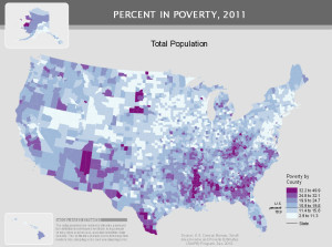 Poverty by county